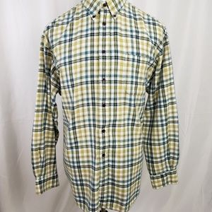 GAP Men's Flannel Shirt XXL Green Plaid C1